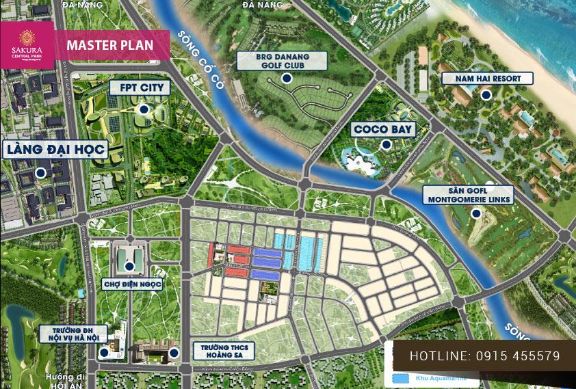 vị trí dự án Sakura Central Park đà nẵng